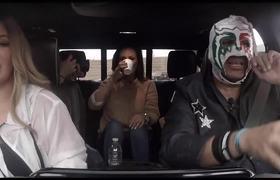 Carpool con Chiquis, Edith Marquez y Escorpión Dorado en Premios de La Radio 2019