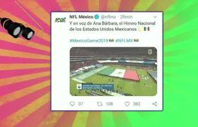 #NFL: ANA BARBARA SE EQUIVOCA en EL HIMNO NACIONAL