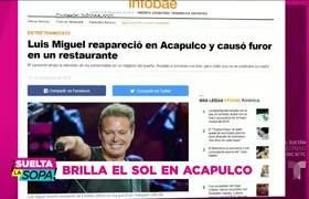 Luis Miguel reaparece muy amable y de vacaciones por Acapulco