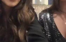 #MissMéxico Sofía Aragón y #MissColombia Gabriela Tafur muy amigas hacen live para sus seguidores.
