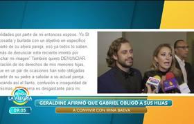 Geraldine Bazán dice que sus hijas han sido obligadas a convivir con Irina Baeva
