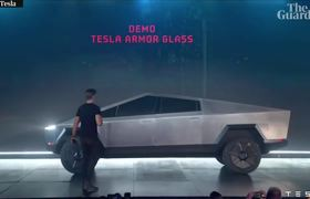#VIDEO: 'Armour glass' windows on new Tesla Cybertruck shatter during demonstration