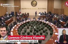 Fracción de #Morena tiene intención de someter al #INE: Lorenzo Córdova