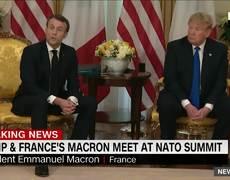 Trump and Macron clash during #NATO summit meeting