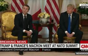 Trump and Macron clash during #NATO summit meeting