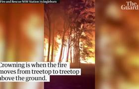 #VIDEO: Terrifying moment a crowning fire explodes outside Sydney