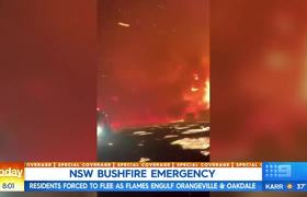 Forced to flee as NSW bushfire suddenly 'explodes'