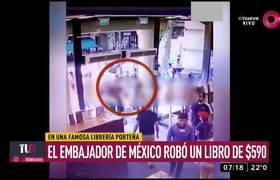 El embajador de México robó un libro de $590