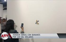 sell banana work stuck on the wall for $ 120,000