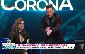 Alicia Machado: las 2 horas antes del concurso son las más importantes