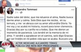 Alejandro Tommasi publicó dramático mensaje que puso en alerta a sus fans