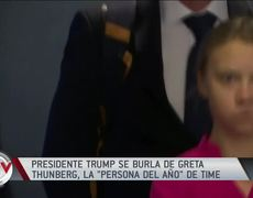 Donald Trump teases activist Greta Thunberg and the girl reacts
