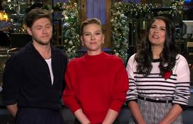 Scarlett Johansson and Niall Horan Make Cecily Strong's Christmas Wish Come True #SNL