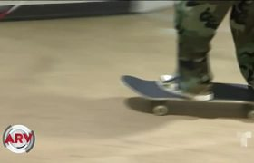Blind young man performs impressive pirouettes with his skateboard