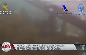 Captured a homemade submarine full of cocaine in Spain