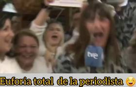 Natalia goes to work! Journalist believed to win Spain's lottery and celebrated live.