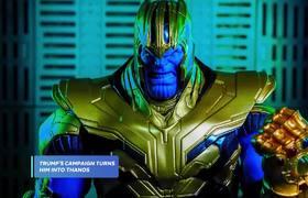 President Trump As Avengers' Thanos