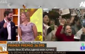 Spanish journalist celebrates live that he won the Christmas lottery