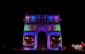 New Year's 2020: Paris, France brings in 2020 with musical light show, fireworks