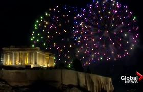 New Year's 2020: Athens, Greece celebrates new year with Acropolis fireworks