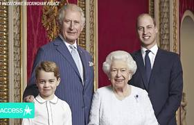 Queen Elizabeth Beams With William, George And Charles In New 4-Generation Royal Portrait
