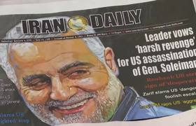 #NEWS: Angry mourners chant 'death to America' after top Iranian general assassinated