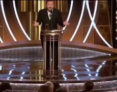 Rickey Gervais at the Golden Globes