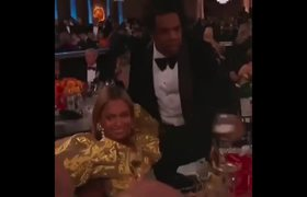Jay-Z & Beyonce arrive at Golden Globes! Beyonce grabs ALL The Attention!