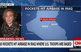 Rockets hit al-Asad airbase in Iraq where US troops are located