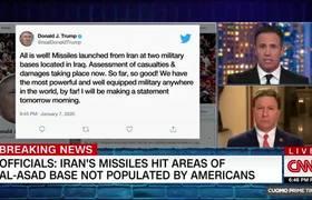 Donald Trump tweets message of optimism following Iran's attacks