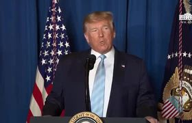 Trump press conference on Iran missile attack U.S officially declare war.