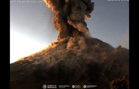 Espectacular Volcán Popocatépetl 9 de enero 2020