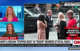 Prince Harry and Meghan stepping back from royal family roles