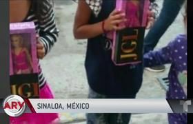 Son of El Chapo gives toys with his father's initials and a message