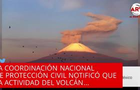 Volcán Popocatépetl hace impactante explosión y emiten alerta