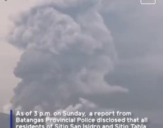 Key events of Taal Volcano eruption