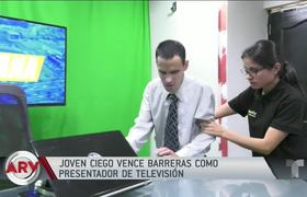 Blind young man overcomes barriers and becomes a television host