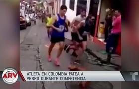 Atleta causa indignación por patear a un perro durante competencia