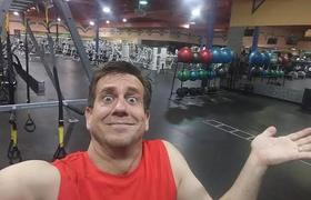 Man stays locked in gym and images become viral