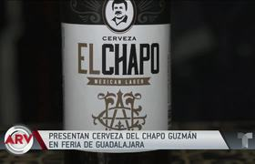El Chapo Guzmán: Beer bottles are displayed with their image