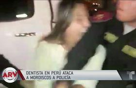 Dentista ataca a mordiscos a policía de Perú