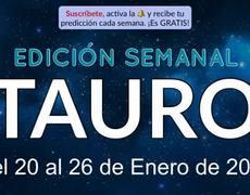 Horóscopo Semanal - Tauro - Del 20 al 26 de Enero de 2020