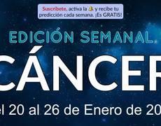 Weekly Horoscope - Cancer - January 20-26, 2020