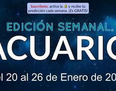 Weekly Horoscope - Aquarius - January 20-26, 2020