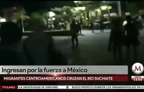 Migrant caravan forcibly enters Mexico