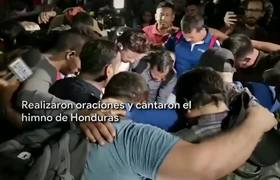 National Guard managed to stop the caravan of Central American migrants