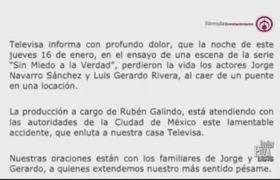 """""""Trágico accidente"""": Rubén Galindo habla de la muerte de Jorge Navarro Sánchez y Luis Gerardo Rivera"""