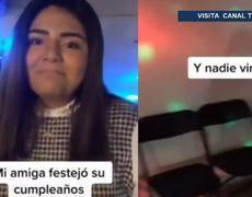 Joven organiza súper fiesta de cumpleaños; sólo tres amigos llegan y se vuelve viral