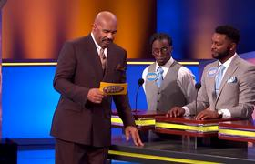 Family Feud: Steve Harvey threatens to destroy the set if THIS is up there! |