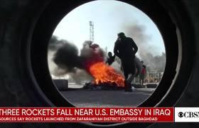 Three rockets hit near U.S. embassy in Iraq and more